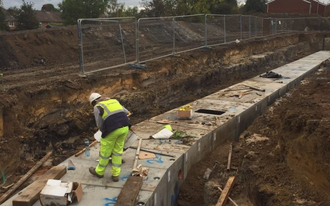 Drainage and Culverts at Harron Homes Housing Development, Eastwood, Nottinghamshire